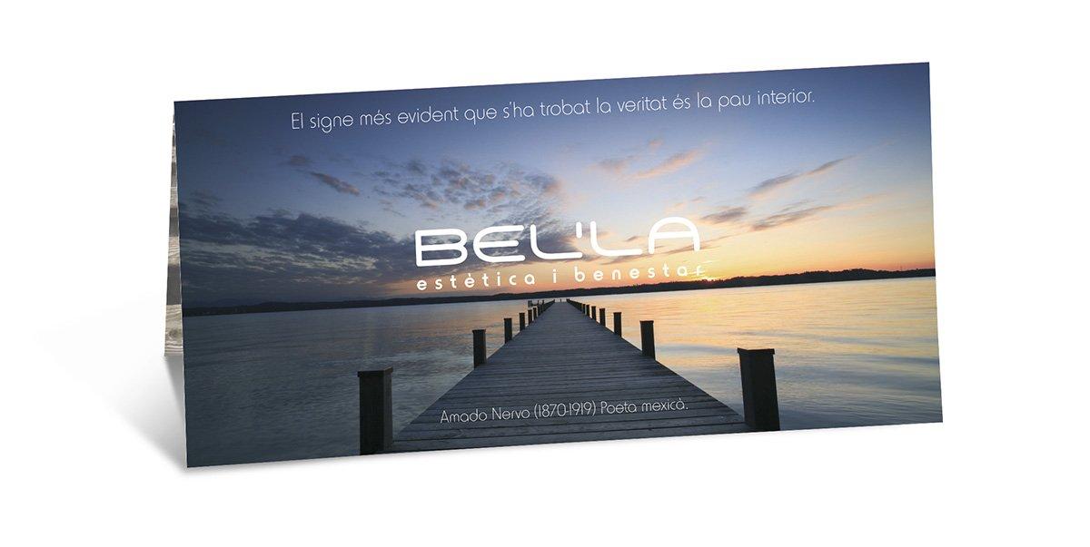 Díptic publicitari Bel'la (vista frontal)