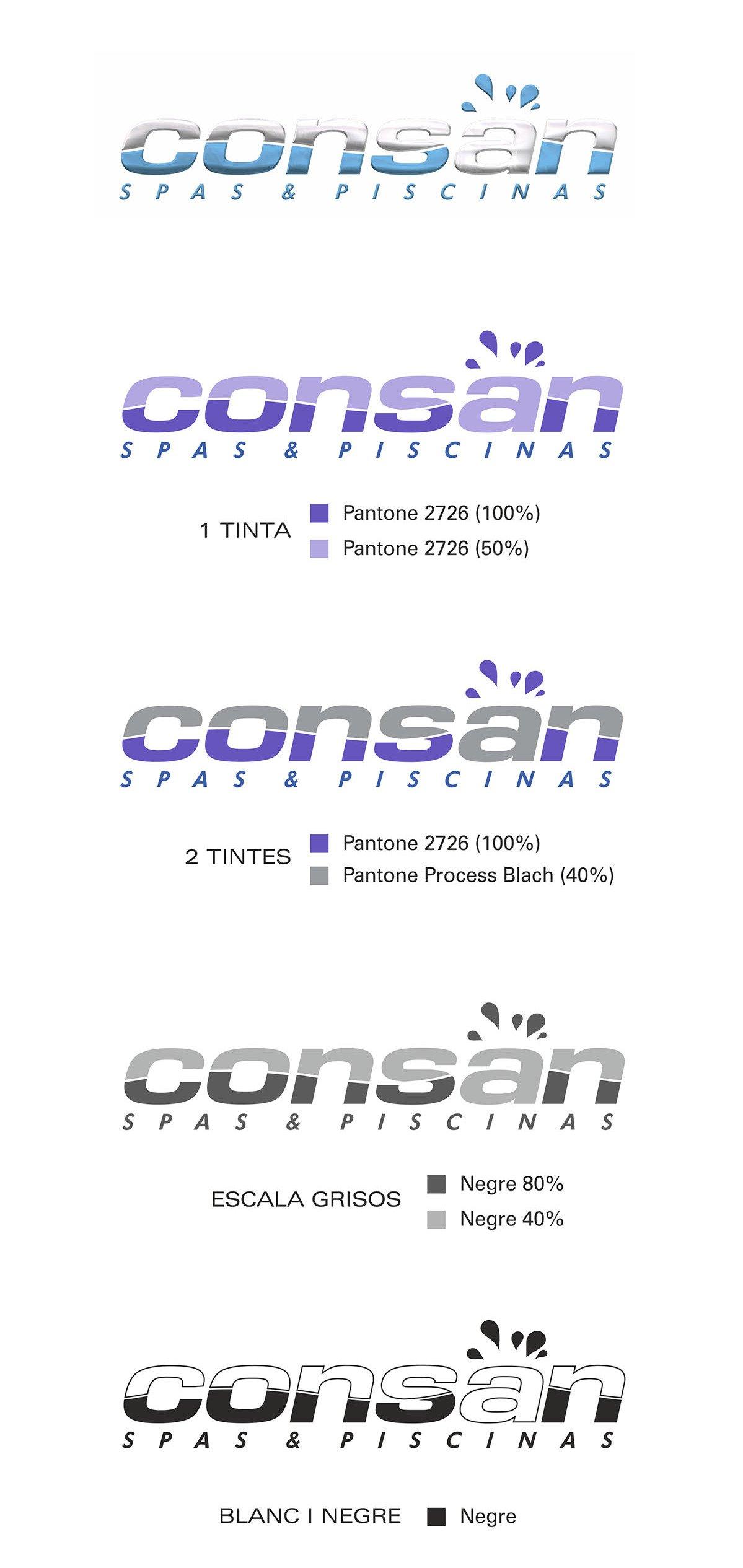 Aplicacions logotip 2008 Consan Piscinas