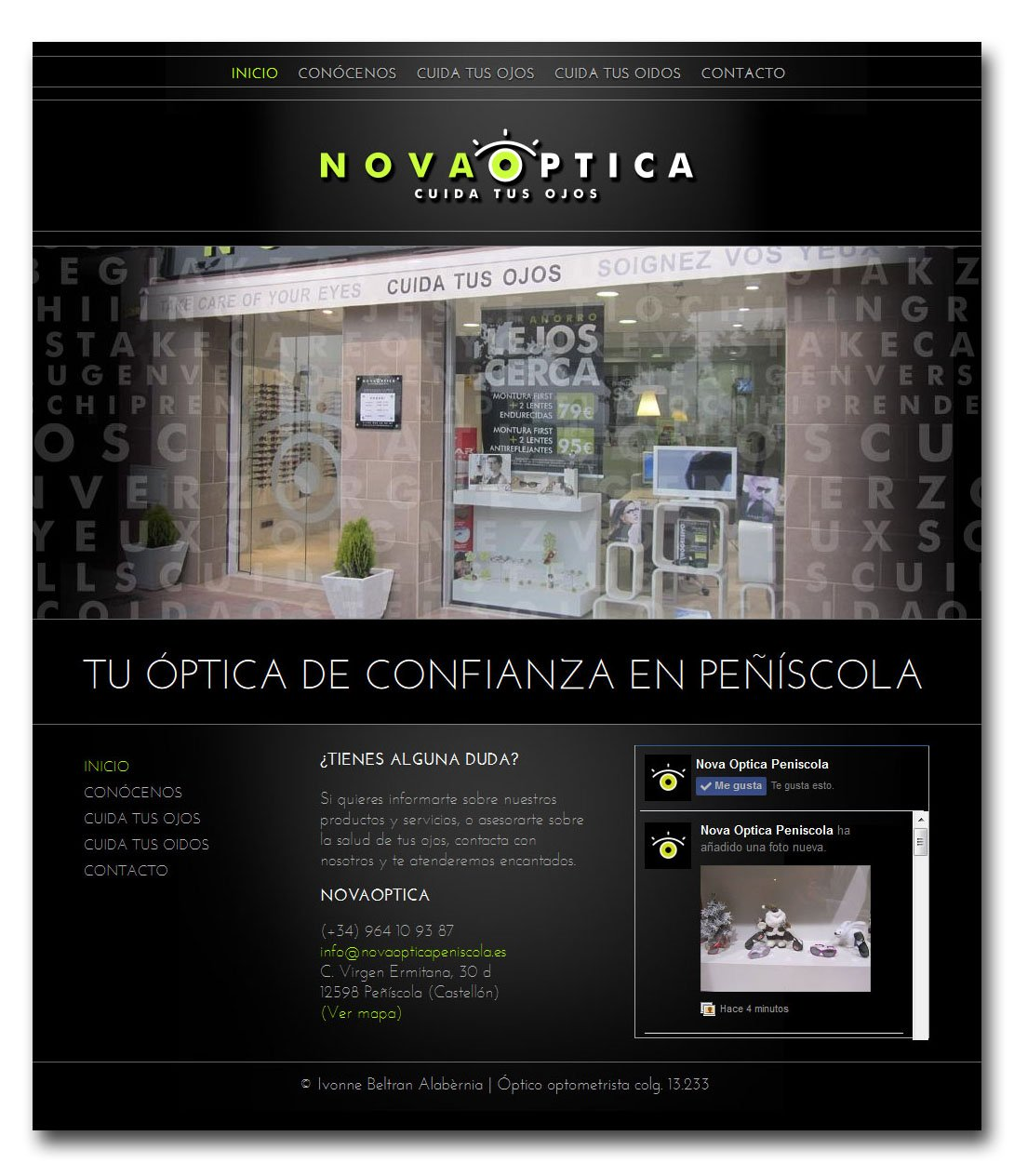 Pàgina Web home Nova Optica